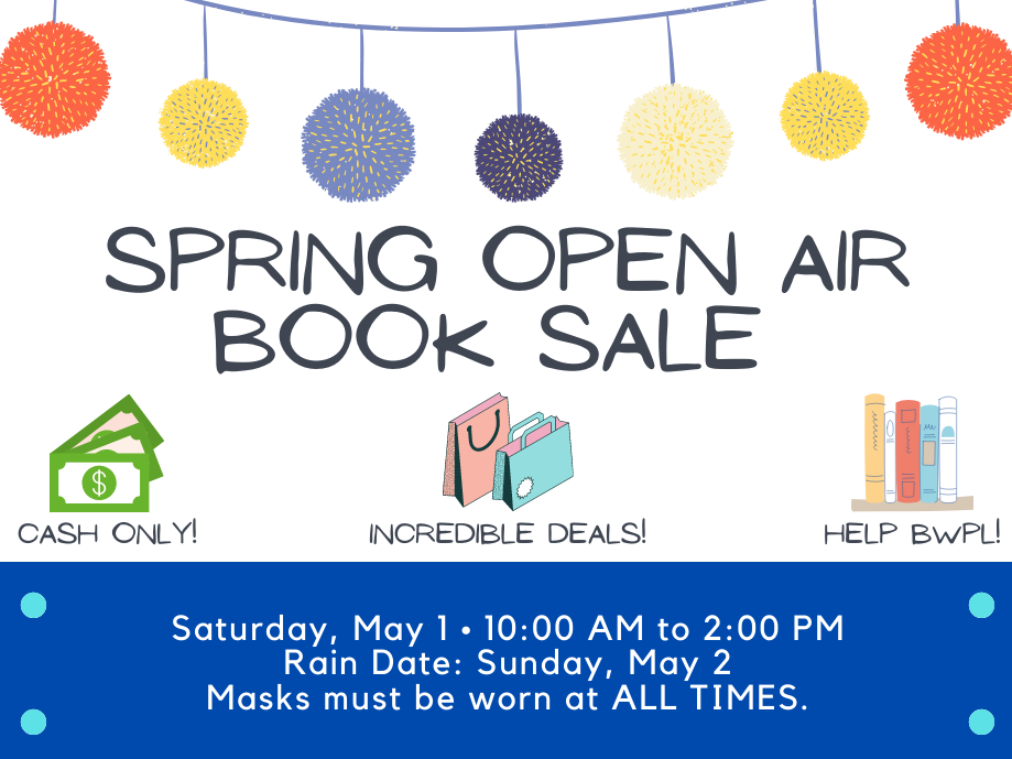 book sale image with text